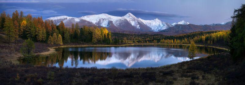 алтай, горы, осень, киделю Вечер на озереphoto preview