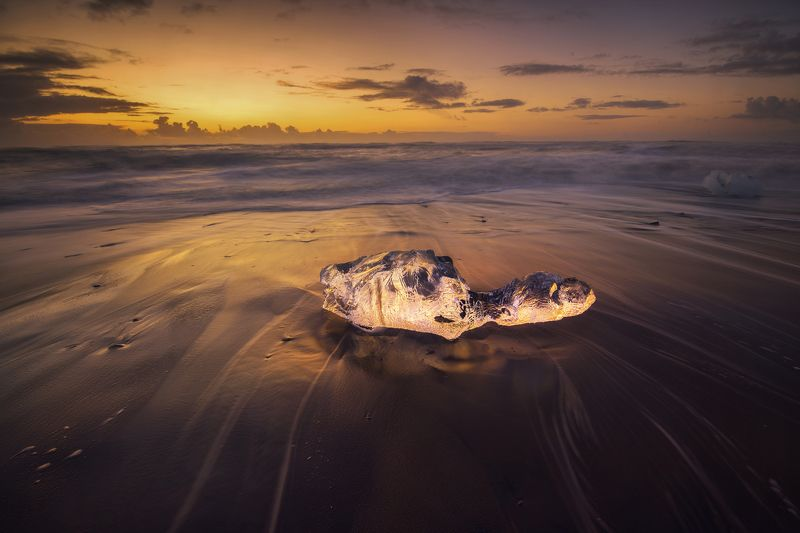 ice, landscape, nature, beach, nature, ocean, sunrise, iceland Ice Turtle.photo preview