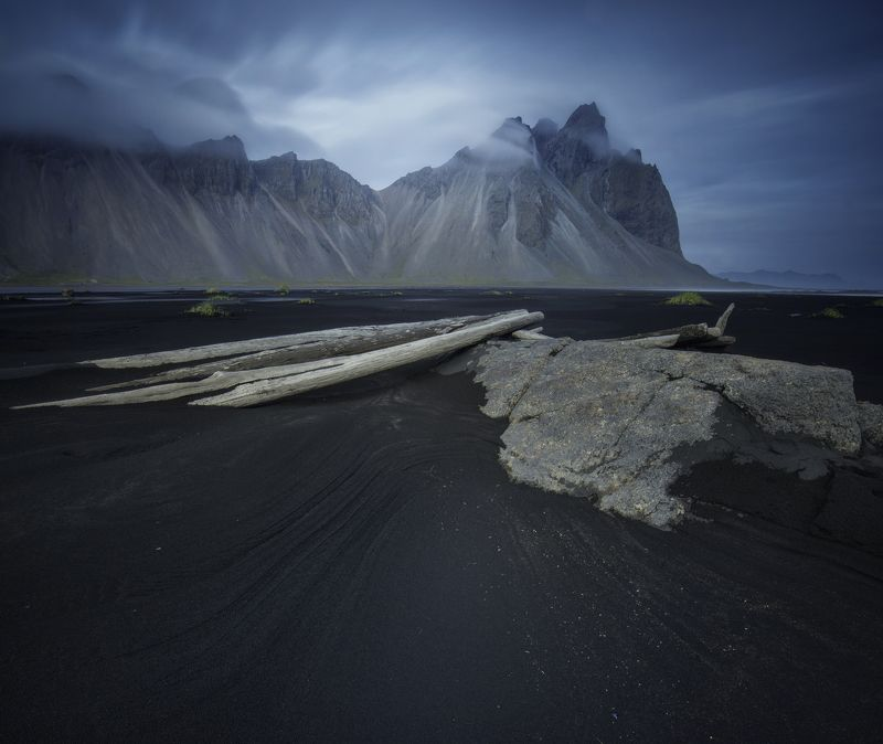 mountain, landscape, nature, foreground, blue, light, iceland, filters Differentphoto preview