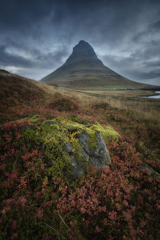 пейзаж, природа, landscape, nature, iceland, kirkjufell, west, mountain Kirkjufellphoto preview