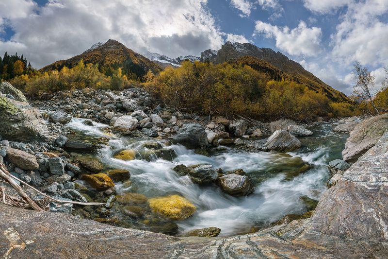 западный кавказ домбай-ульген осень Осенние воды Домбай-Ульгенаphoto preview