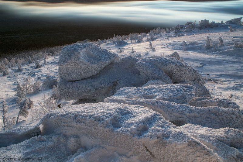 южный урал, таганай, зима Замёрзший.photo preview