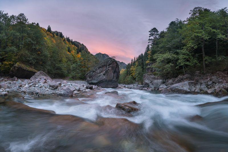 западный кавказ большая лаба рожкао каменный стог осень рассвет Рассвет у Каменного стогаphoto preview