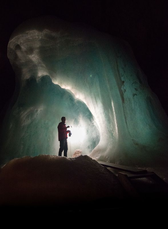 cave, ice, austria, eisriesenwelt Inside the ice cavephoto preview
