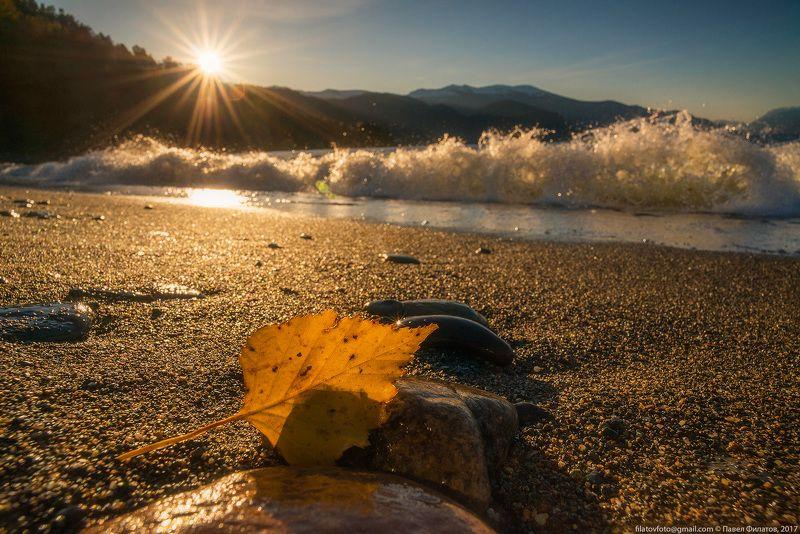 алтай, сибирь, siberia, осень, altai, утро, рассвет, телецкое озеро, солнце, верховка, алтайский заповедник, волны Верховкаphoto preview