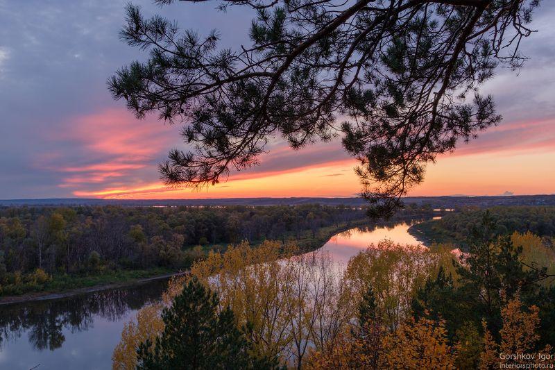 кама,река,закат,осень,пейзаж,татарстан,природа, Осенний закат на Камеphoto preview