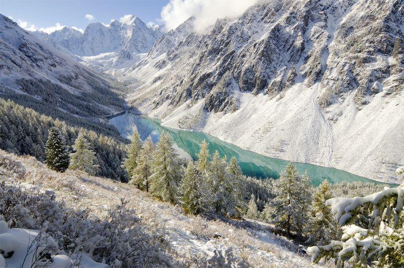Алтай, оз. Нижнешавлинское алтайский изумрудphoto preview