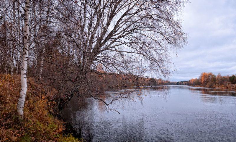 над рекой осеннею...photo preview