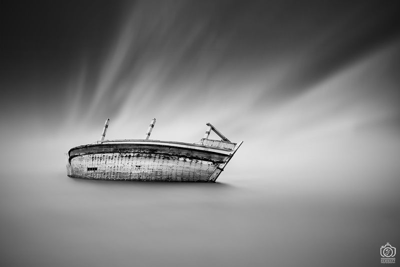 longexposure , sea , nature , strong , blackandwhite , life , ship , alone , canon , lonely , world ,photography , tired , fineart , dhow , canon80d broken dhowphoto preview