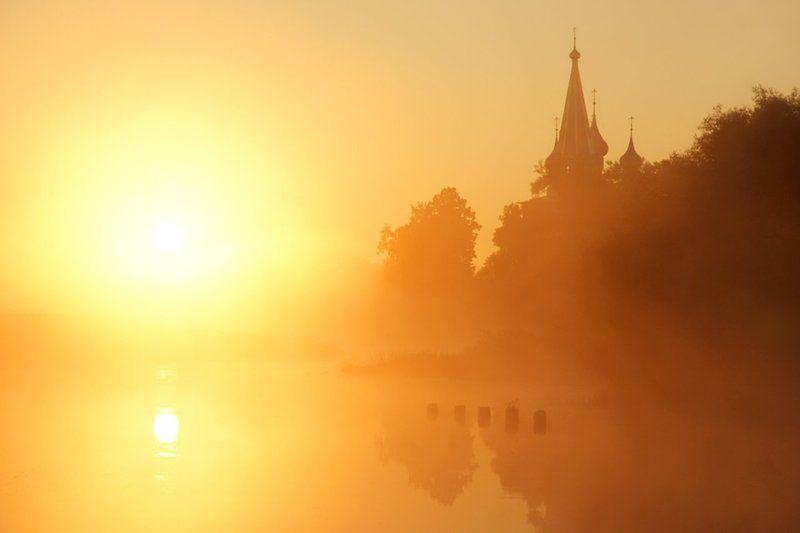 дунилово рассвет,  река, теза, ивановская область Дуниловский рассветphoto preview