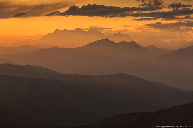 алтай, сибирь, siberia, белуха, закат, altai, катунский хребет Белухаphoto preview