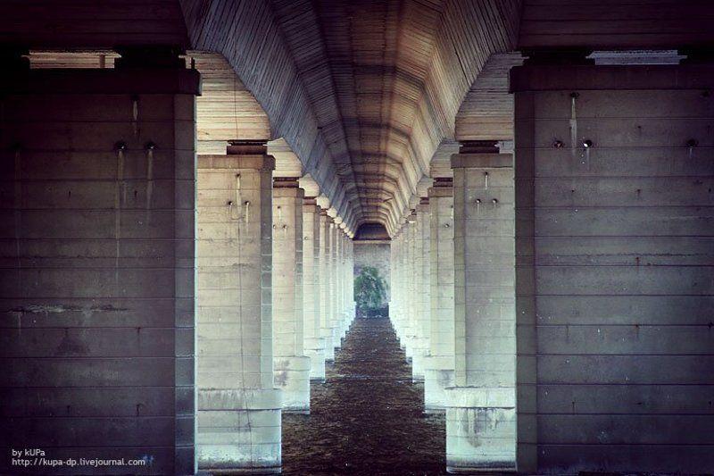 город, мост, река, днепр Под мостом №2photo preview