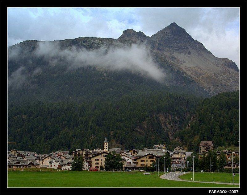 швейцария, сильваплана, silvaplana, горы, облака, paradox Неприступный с тыла городphoto preview