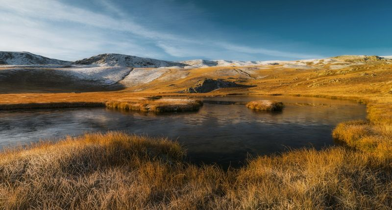 утро, осень, октябрь, озеро, пхия, мороз хребет ацгара МОРОЗНЫМ УТРОМphoto preview