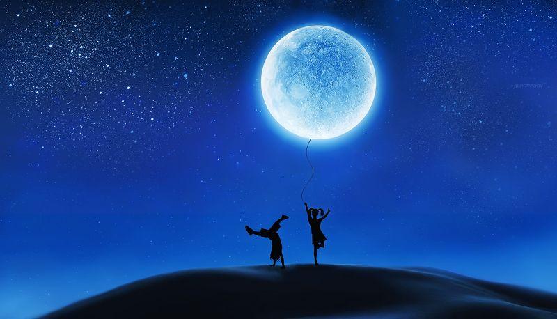луна, ночь, дети Не спешите взрослеть...photo preview