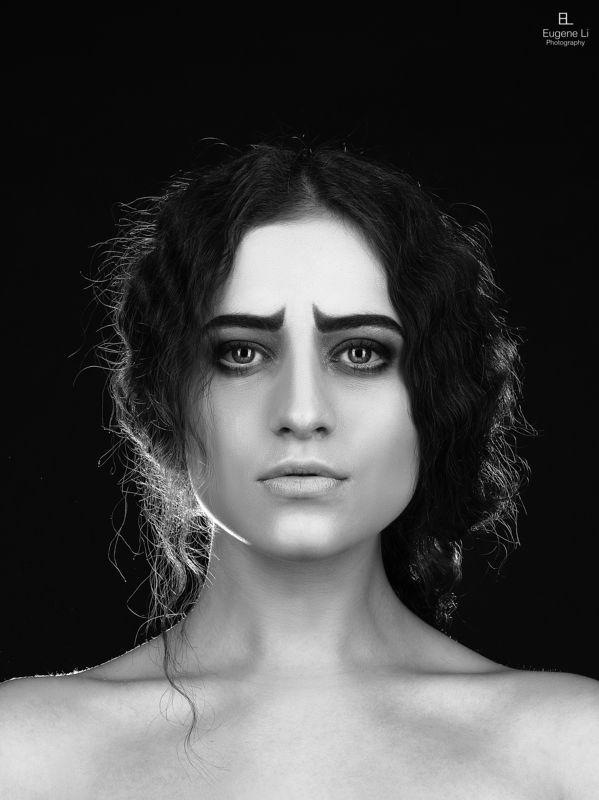 чб, девушка, портрет Анастасияphoto preview