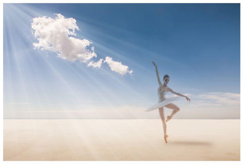 небо, облако, балерина, пустыня Танец – поэзия ног (Джон Драйден)photo preview