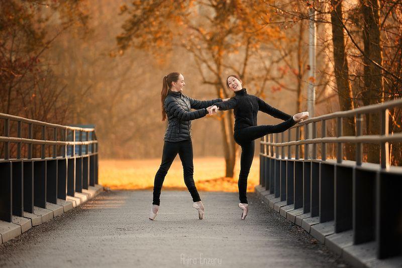 ballerina, dance, dancing, portrait, street, outdoor Осеньphoto preview