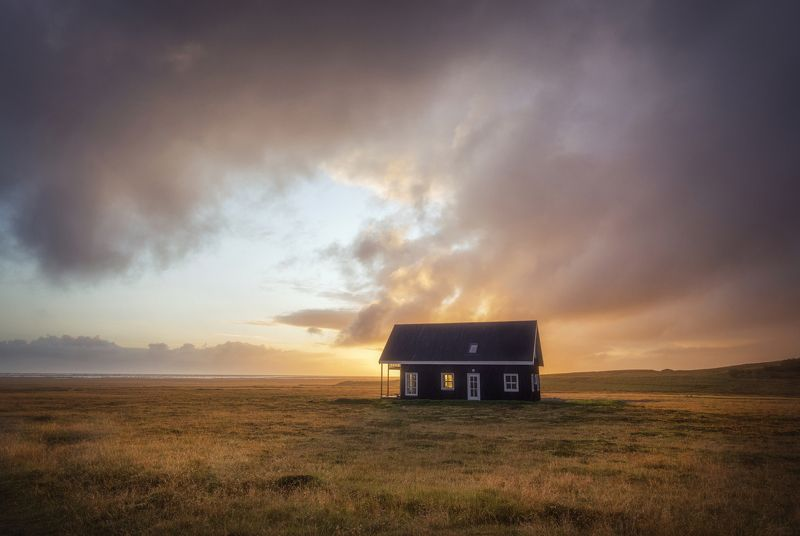 пейзаж, природа, iceland, landscape, nature, sunset, clouds, Isolatedphoto preview