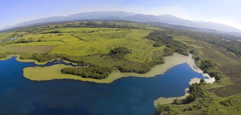 Кавказ, Абхазия, озеро, аэро, aerial Абхазский орнамент 4photo preview