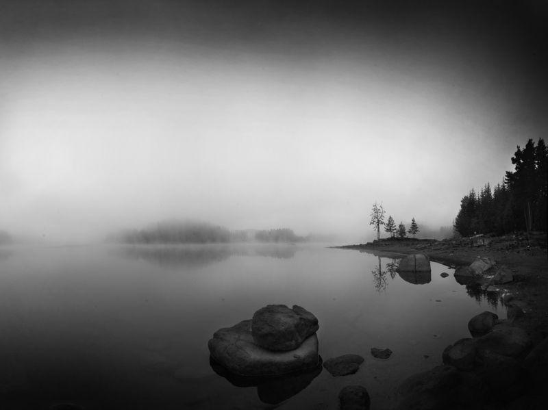 ожидание, утро, туман, озеро, гора, Родопа  Ожидание.photo preview