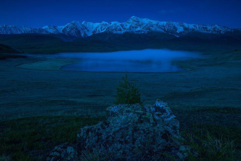алтай, сибирь, siberia, лето, ночь, altai, джангысколь, туман, северо-чуйский_хребет, алтай2018 Предрассветные туманы Джангыскольphoto preview