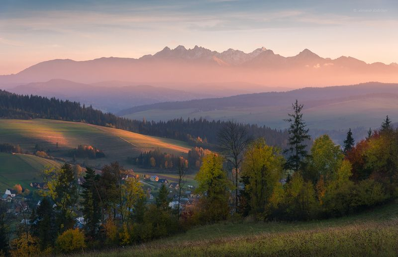 пейзаж, закат, татры Осенний вечер в Татрах...photo preview