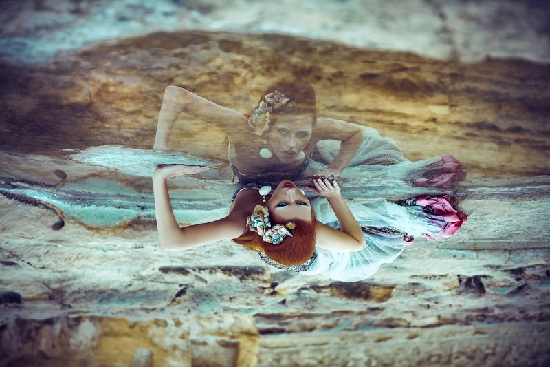 woman, portrait, natural light, mermaid, malta She was a mermaid washed ashore...photo preview