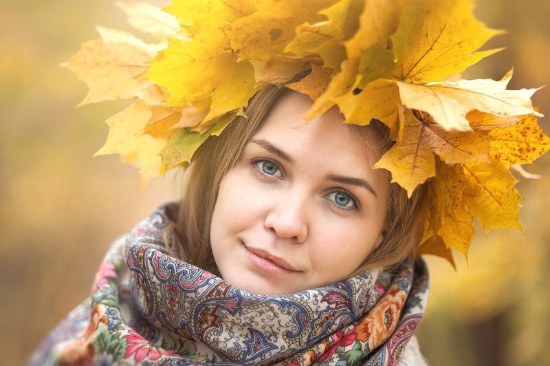 Осенний случайный портретphoto preview