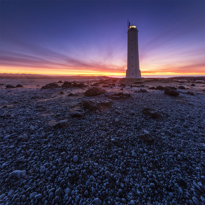 Iceland lighthouse sunrise Sunrise & Lighthouse.photo preview