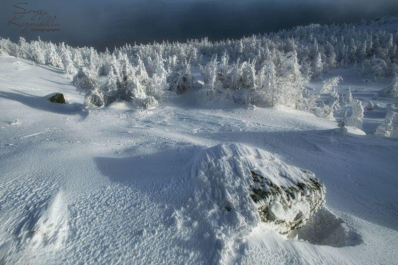 таганай, зима, южный урал В снежном плену.photo preview