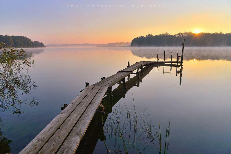 утро озере morning lake water sun landscape bridge grass sunrise утро на озереphoto preview