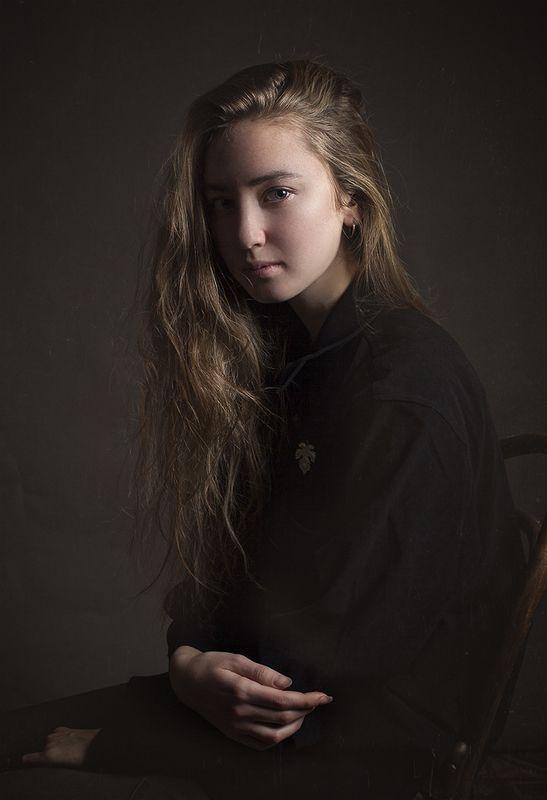 портрет, девушка, картина Дашаphoto preview
