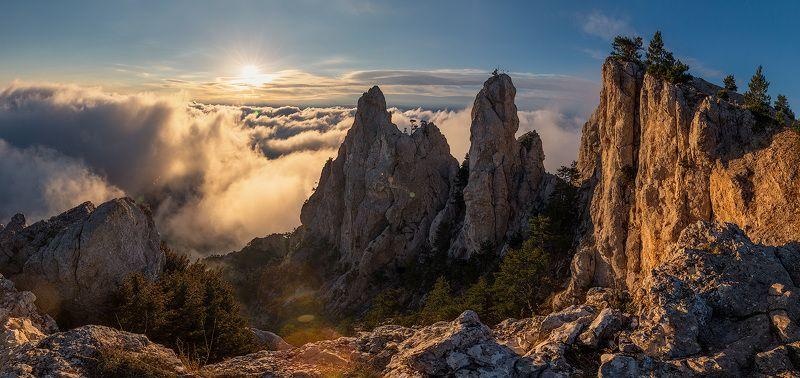 рассвет, утро, горы, ай-петри, туман,небо,высота, Рассвет на Ай-Петриphoto preview
