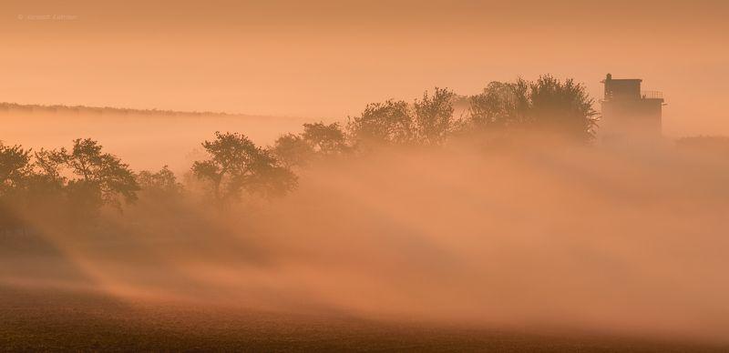 пейзаж, моравия, утро,туман,рассвет Струится утро...photo preview