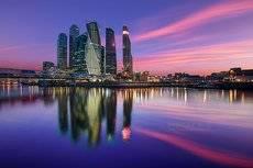 Москва-сити на закате.