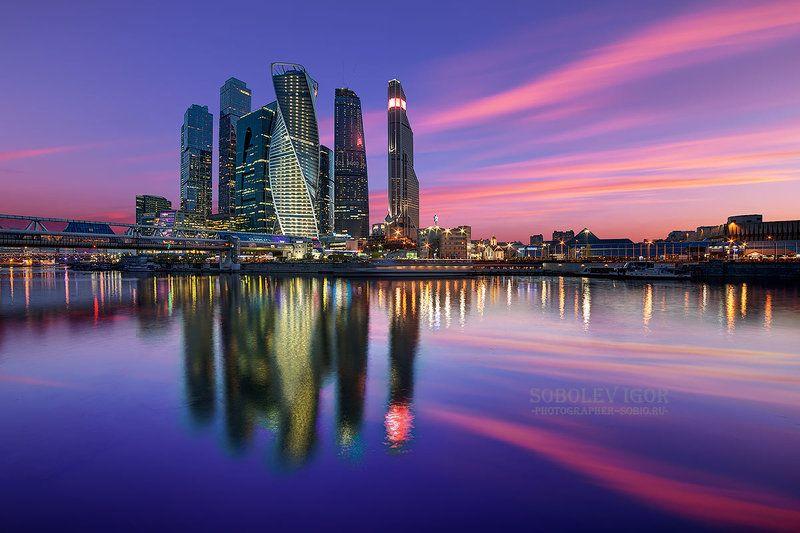 москва-сити, закат, москва, moscow-city, sunset, moscow Москва-сити на закате.photo preview