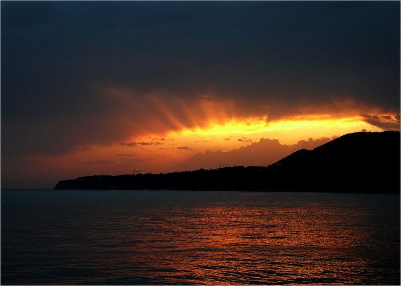 море, закат, туапсе Зорька алаяphoto preview