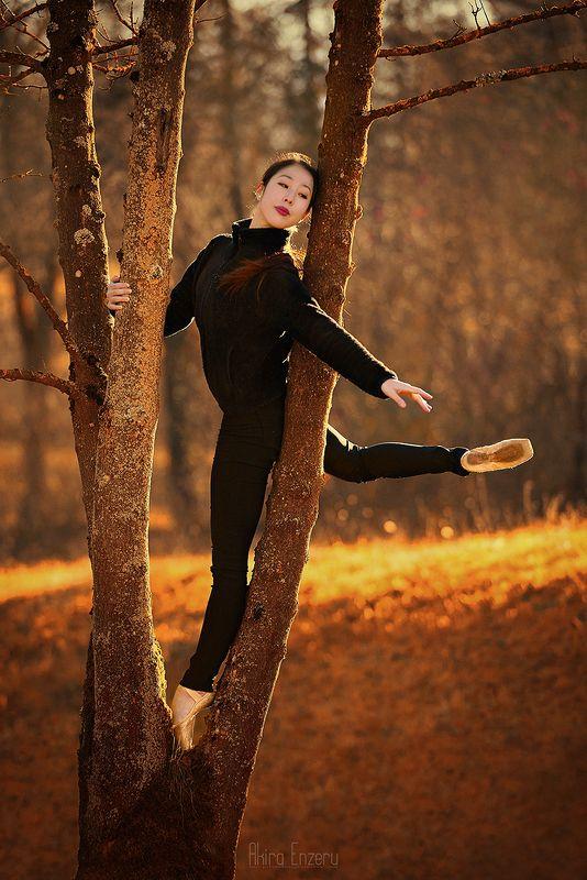 ballerina, dance, dancing, portrait, street, outdoor, осень Осеньphoto preview