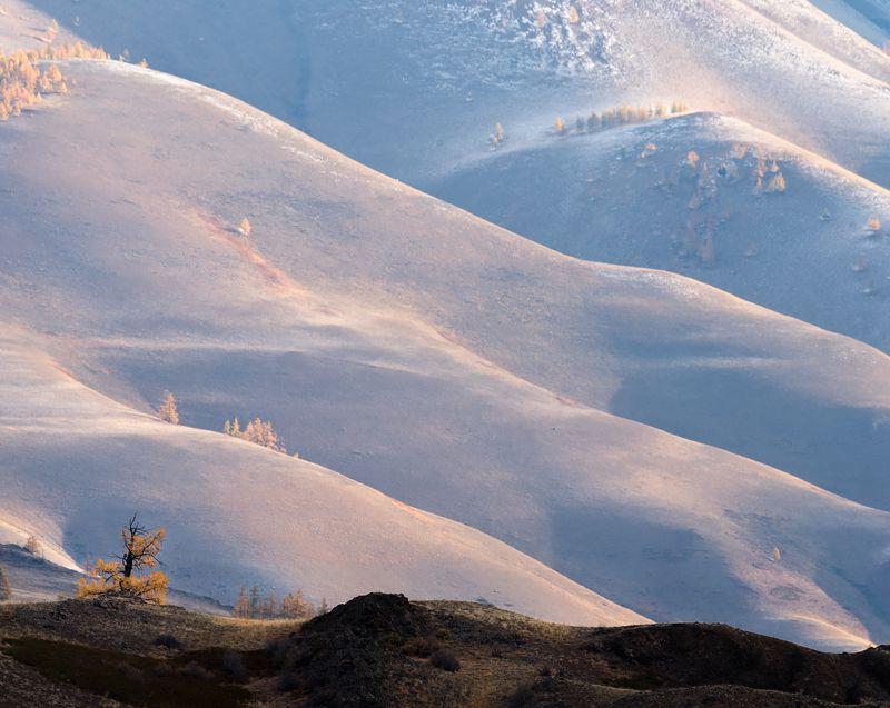 пейзаж, алтай, осень Бархатные волны...photo preview