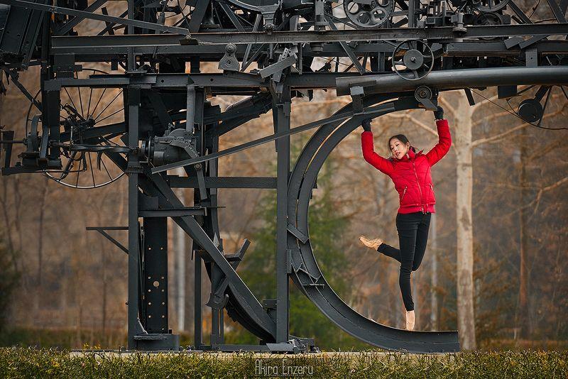 ballerina, dance, dancing, portrait, street, outdoor, осень ***photo preview