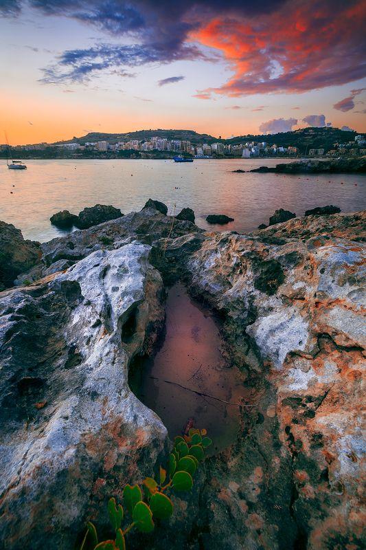 sunrise, malta, seascape, colors, travel Malta sunrisephoto preview