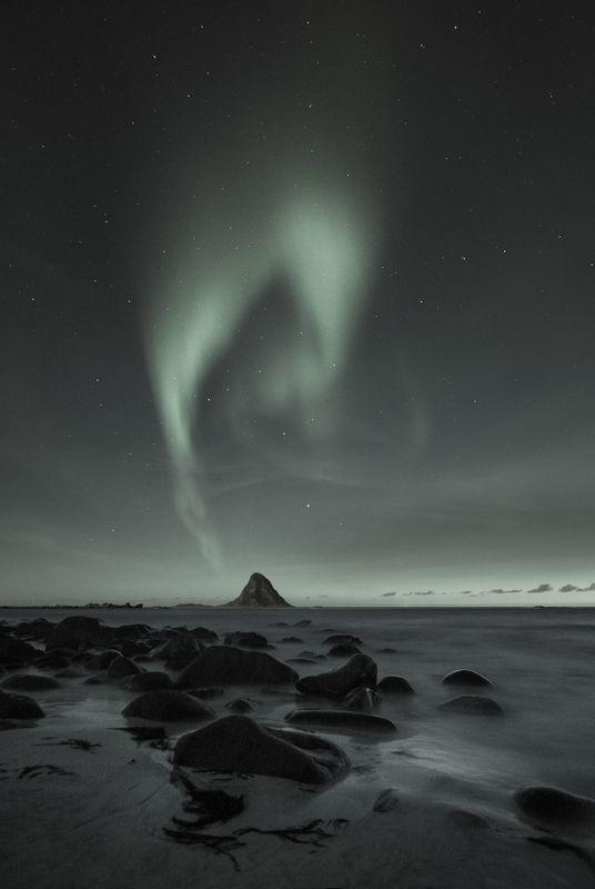northern lights, bleik, norway, darkspace, night, nature, stars, blut aus nord Echoes of Non-Matterphoto preview
