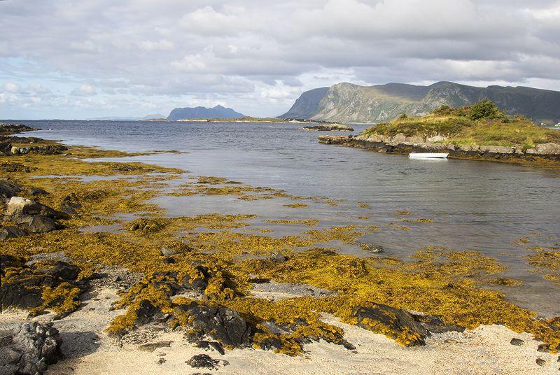 норвегия, скандинавия С лодкойphoto preview