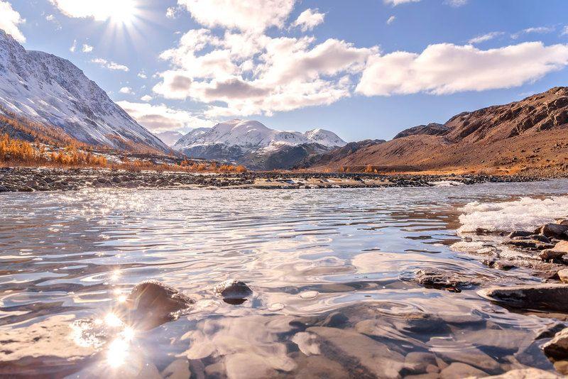река, осень, вода, солнце, алтай, талдура, river, autumn, water, sun, altai Солнечная Талдураphoto preview
