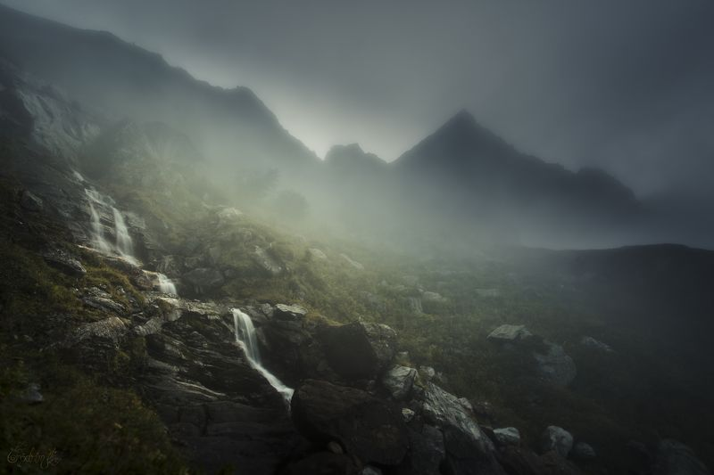 nature, mountains, landscapes, france, tolkien, mist, waterfall, ethereal, ambiant To Rivendell Where Elves Yet Dwellphoto preview