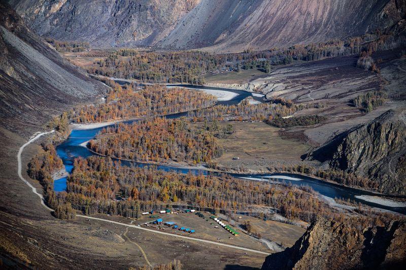 река, чулышман, горный, алтай Долина реки Чулышманphoto preview