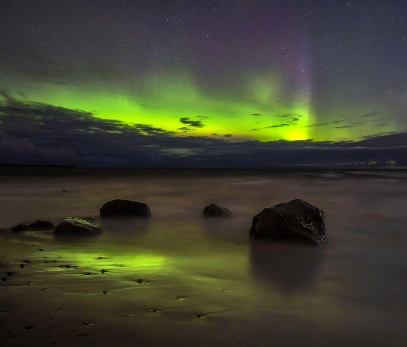 ладога, арора, северное сияние, карелия Северное сияние на Ладожском озереphoto preview
