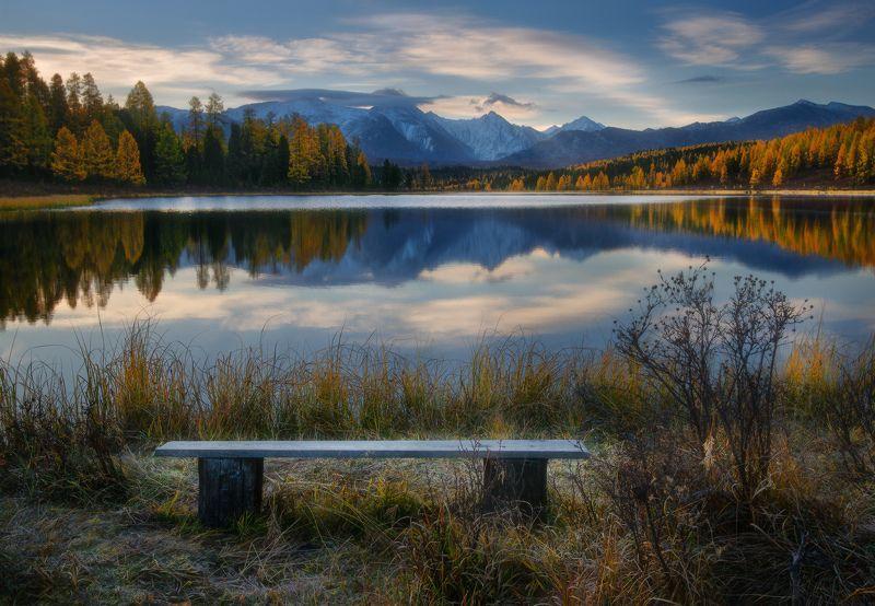 алтай, горы, осень, киделю Утро в краю горных озерphoto preview