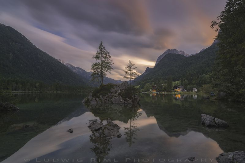 after sunset, bavaria, beach, berchtesgaden, calmness, europe, evening, evening glow, flags, forest, germany, green, harmony, hintersee, hotel, lake, lights, mountain glow, mountains, nature, outdoors, ramsau, rock, seaside, serenity, shore, snow, still,  Harmonyphoto preview